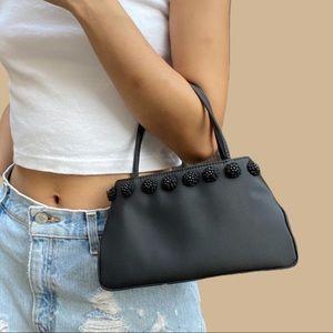 Vintage Black Nylon Mini Bag